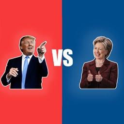 Trump vs. Clinton Moji Stickers for iMessage
