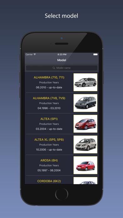 TechApp for SEAT Screenshot