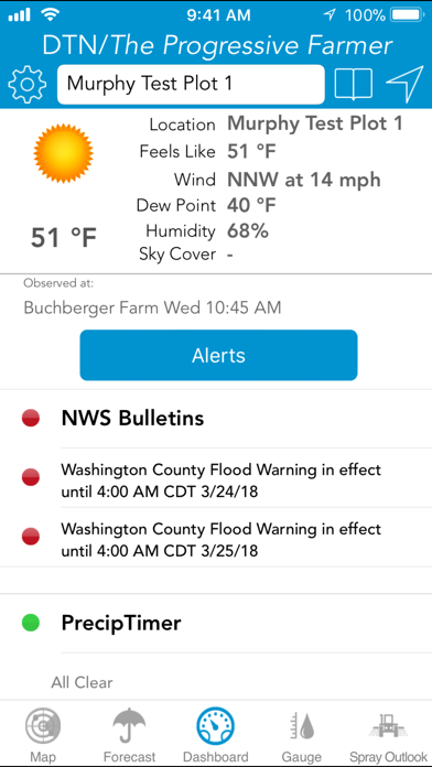 DTN: Ag Weather Tools Screenshot