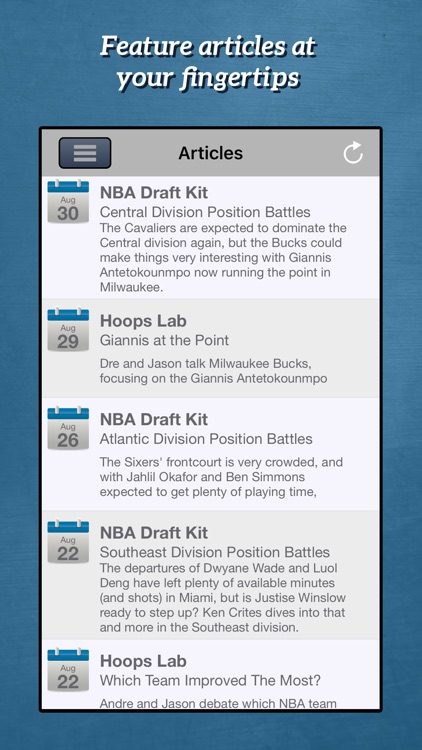 RotoWire Fantasy Basketball Draft Kit 2016 screenshot-3