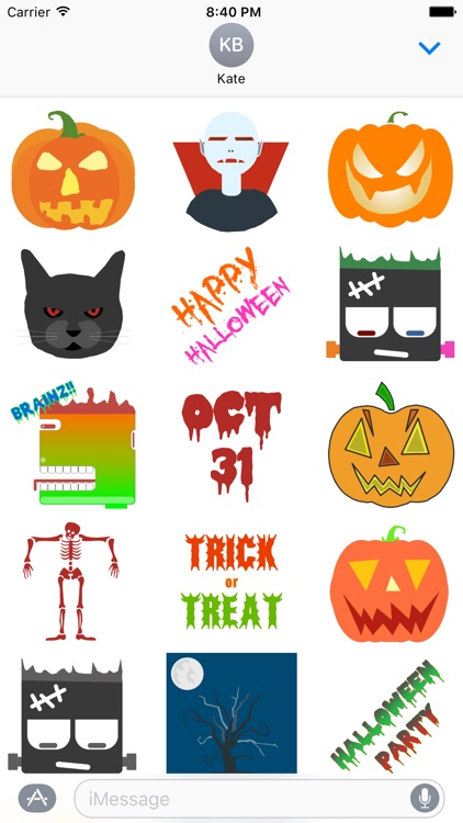 Halloween Stickers - for iMessage