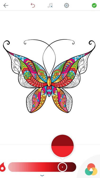 Adult Butterfly Coloring Book by Peaksel