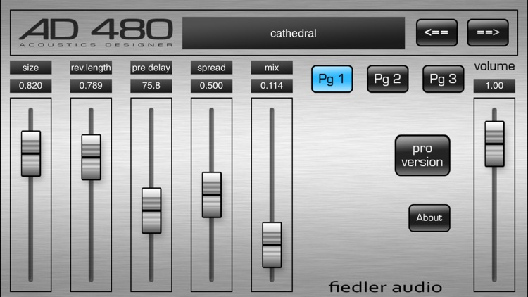 AD 480 basic - Studio Reverb