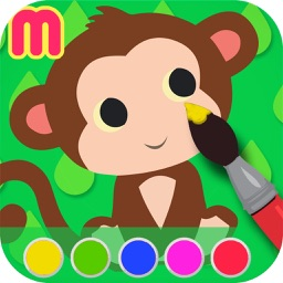 animal coloring book & Art Studio - painting app for children  - learn how to paint cute jungle animals