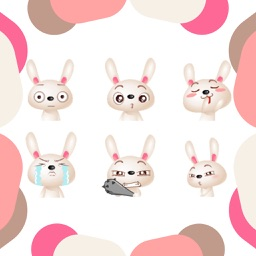 Cute Bunny Gifs & Emojis & Stickers For iMessage