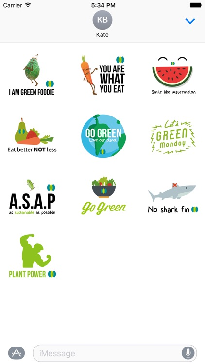 Green Monday Stickers