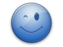 Blue Emoticon