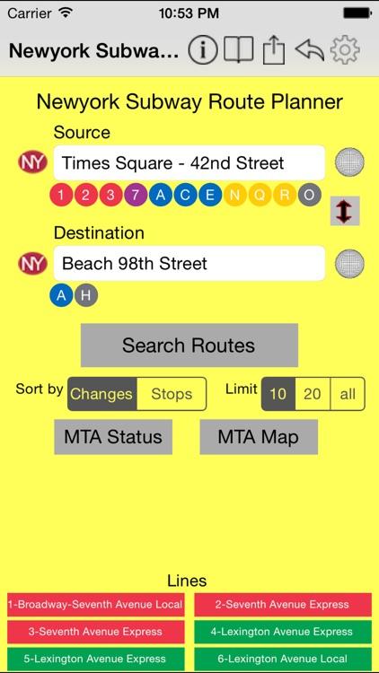 Newyork Subway Route Planner