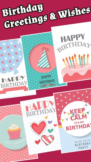 Happy birthday cards greetings free on the app store screenshots m4hsunfo