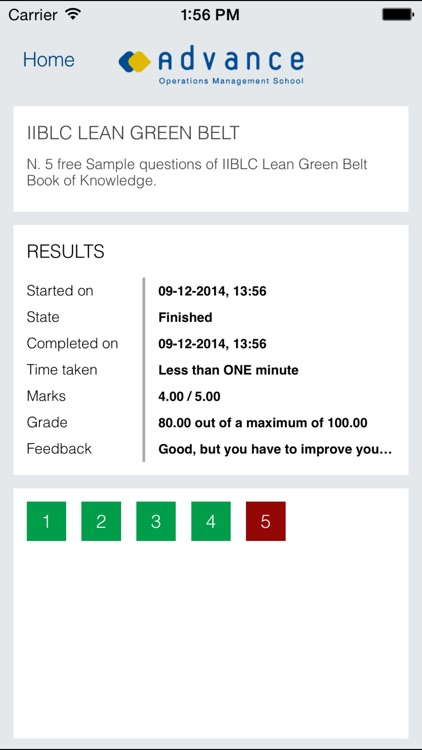 CGBL Lean Green Belt exam prep screenshot-3