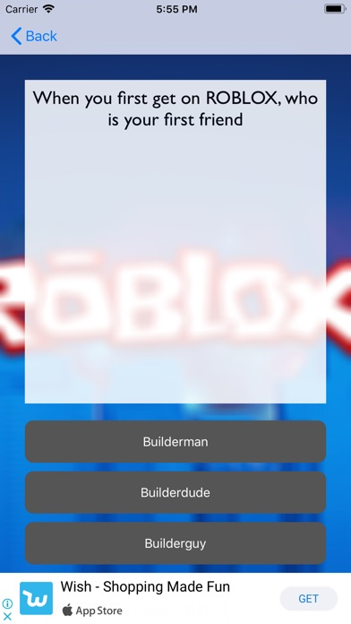 Roblox Lover 36 Quiz Roblox For Robux App Reviews User Reviews Of Quiz Roblox For Robux