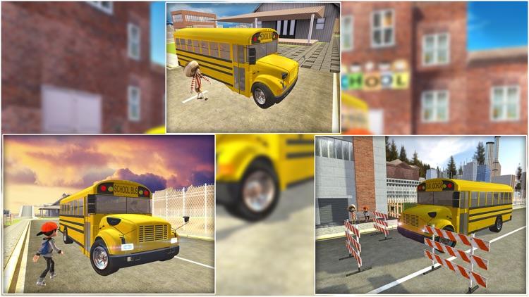 Crazy School Bus Transport Sim screenshot-4