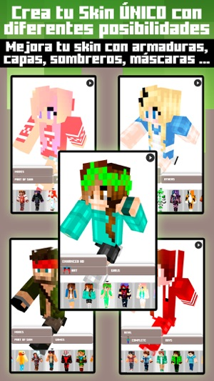 Skins For Minecraft PE PC Free Skins En App Store - Skins para minecraft pe con capa