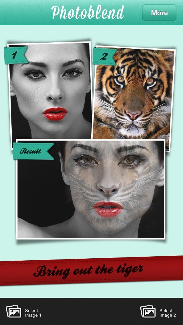 Fotoblend Pro mezclan imágenesCaptura de pantalla de2