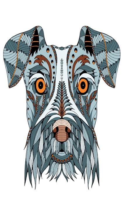 Mandalas dog Coloring for adults - Premium screenshot-4