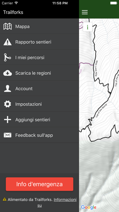Screenshot for Trailforks - Bike Trail Mappa in Italy App Store