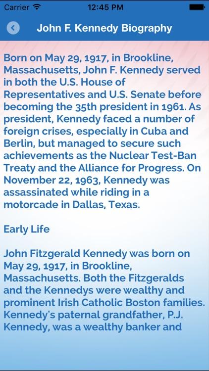 Motivation Quotes & Biography of John F. Kennedy screenshot-4