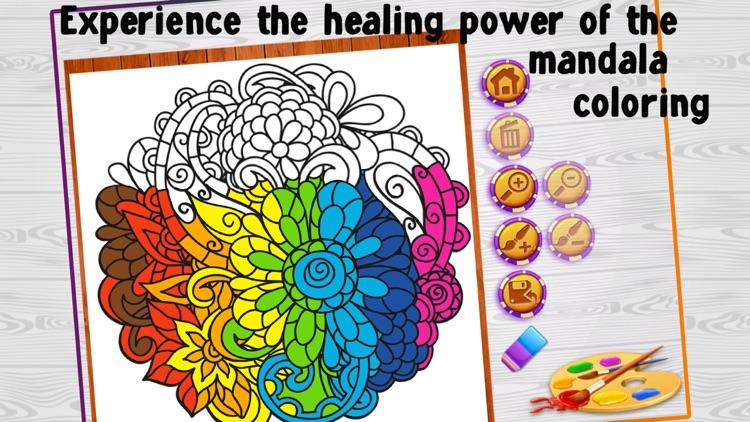 Mandala Coloring Book - Adults Coloring Book Relax screenshot-3