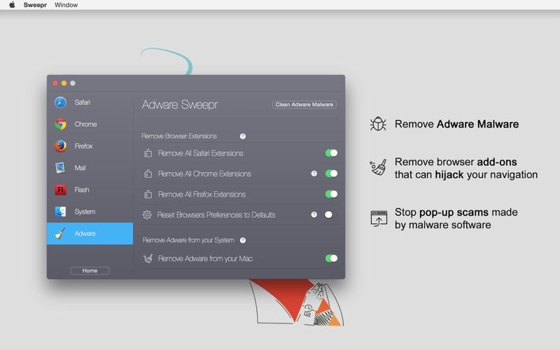 Sweepr (Malware Remover, Browser & System Cleaner) скриншот программы 1