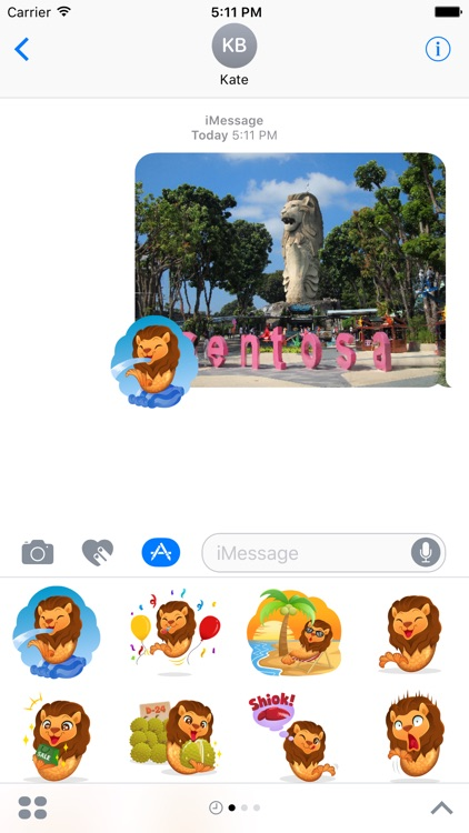 Merlion Stickers