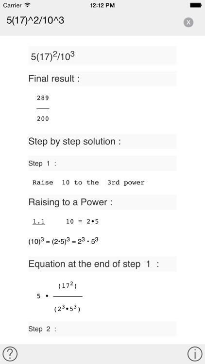 Tiger Algebra Solver