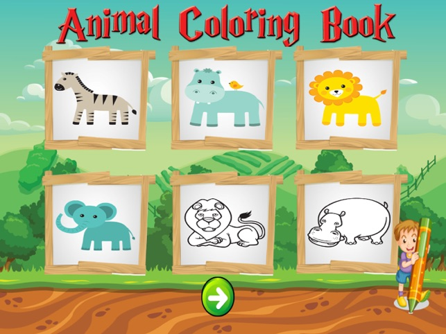 Animal Coloring Book for Kids And Toddler - Coloring Book for Little Boys and Kids