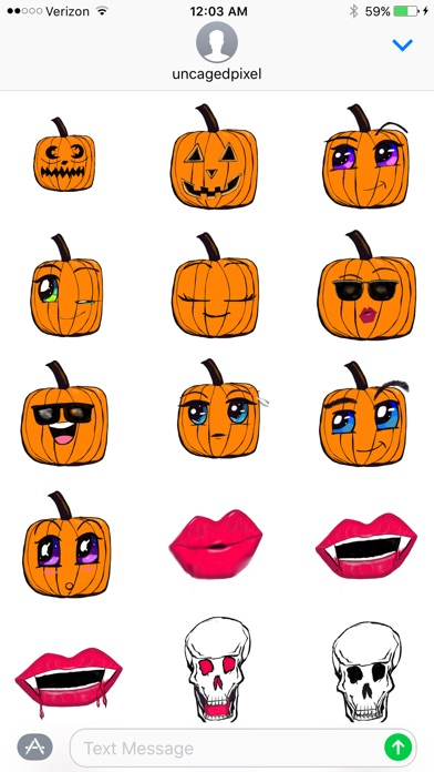 Tasty Face Halloween Stickers App Data & Review - Stickers - Apps ...