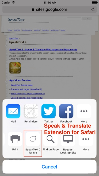 SpeakText 2 screenshot-1