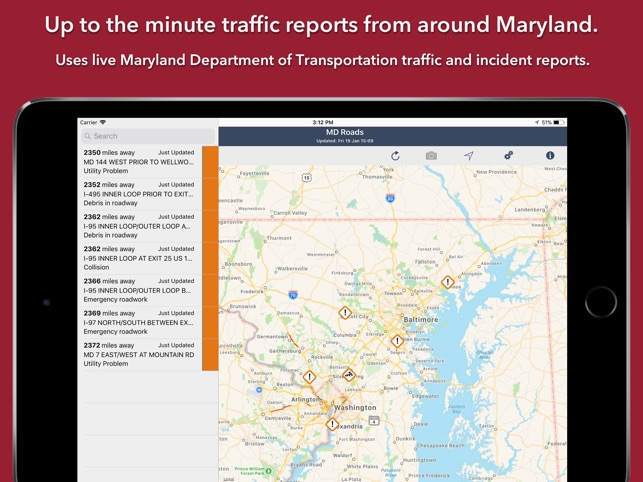 Maryland Roads Traffic on the App Store