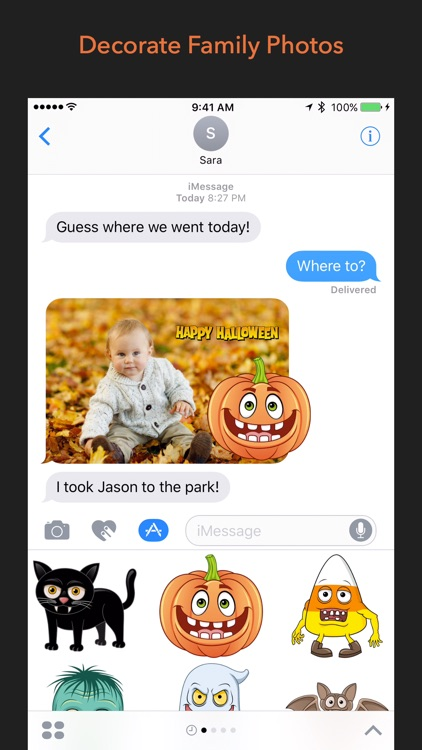 Halloween Holiday Stickers screenshot-2
