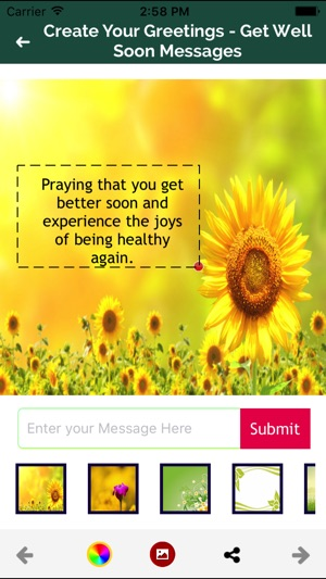Get well soon greeting maker on the app store m4hsunfo Choice Image