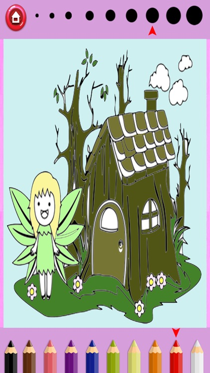 Girls Coloring Book Little Fairies - Game For Kids
