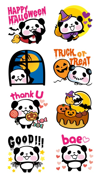 Pandaaa!!! Halloween Stickers screenshot-1