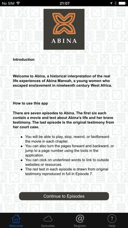Abina the app