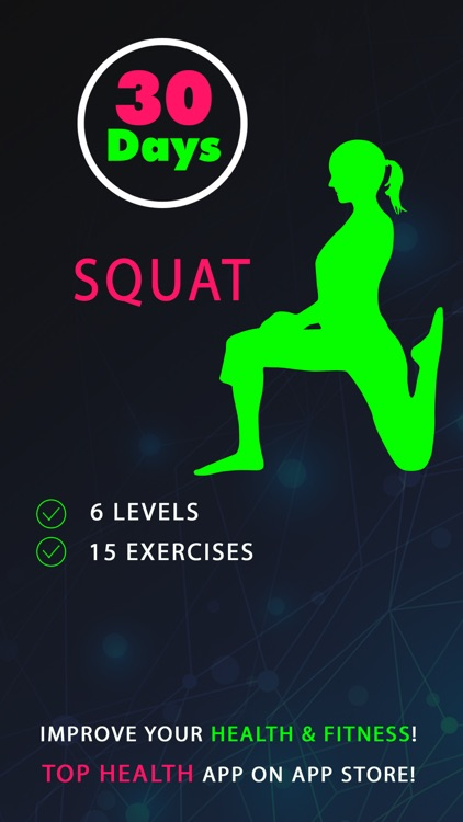 30 Day Squat Fitness Challenges ~ Daily Workout app image