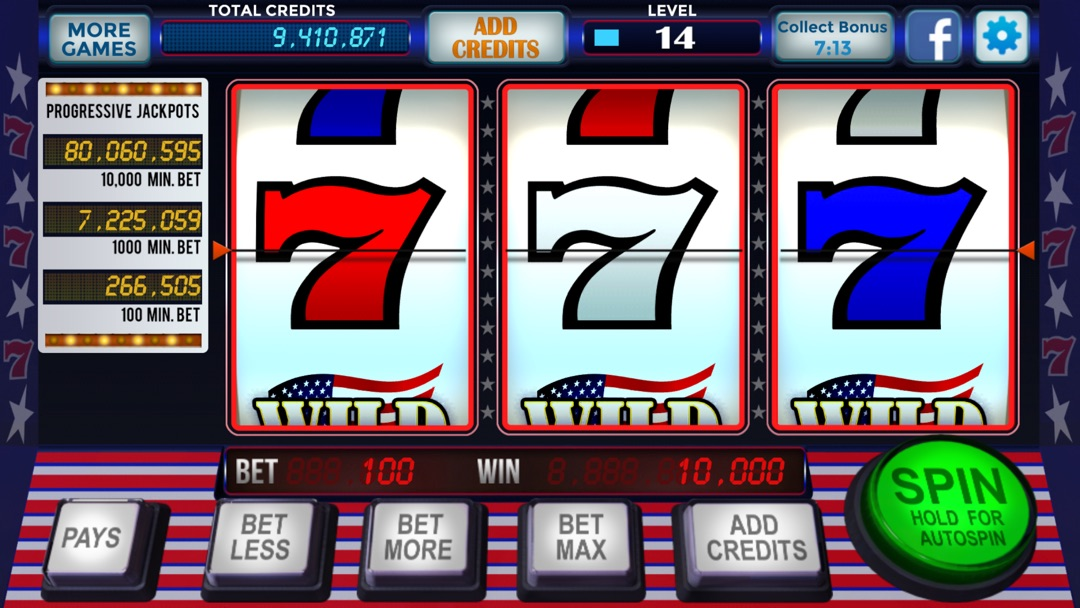 Free Red White Blue 777 Slots