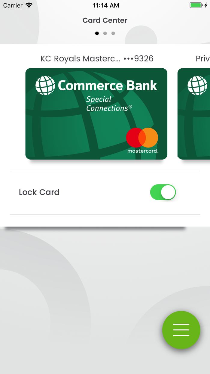 Commerce Bank for iPhone Screenshot