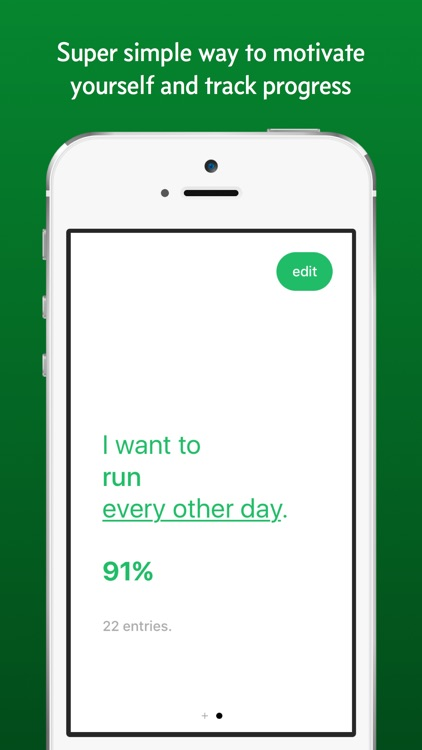 Habit - change your habits by tracking and hitting your goals