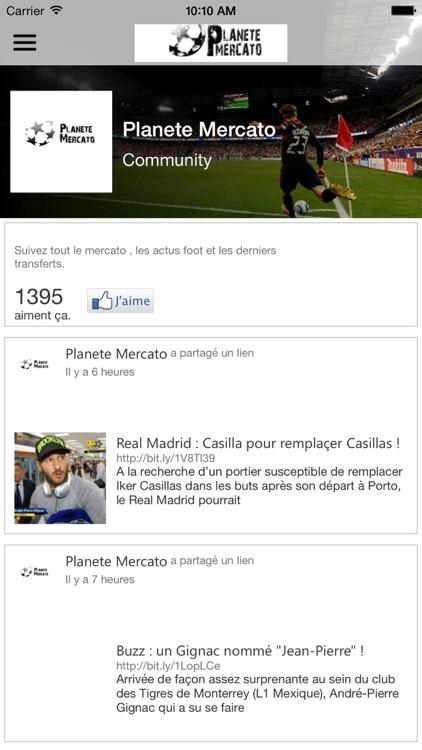 Planete Mercato : infos foot & Videos screenshot-3