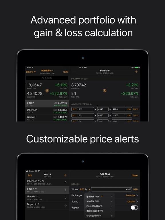 Crypto Pro: Bitcoin Ticker Screenshots