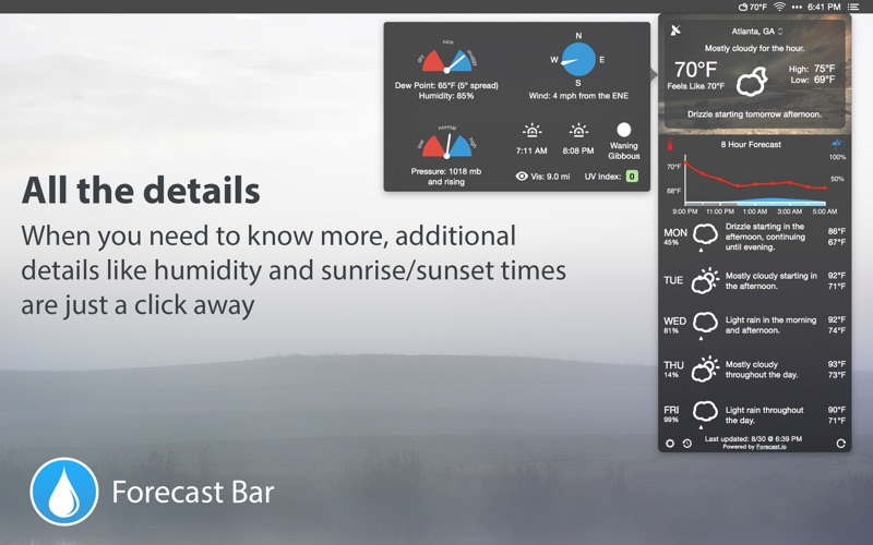 Forecast Bar - Weather, Radar and Alerts Screenshot