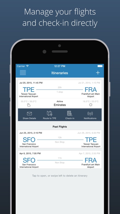 Boarding Pass - Flight Check In & Schedule Manager