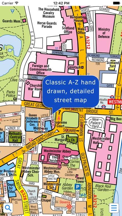 London Super Scale A-Z Street Map