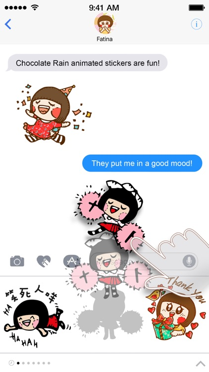 Chocolate Rain Stickers screenshot-3