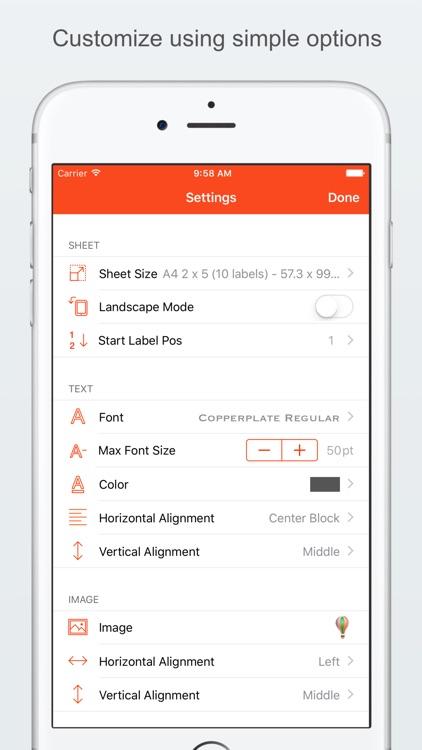 Label Printer Lite  - Create and Print Labels screenshot-3