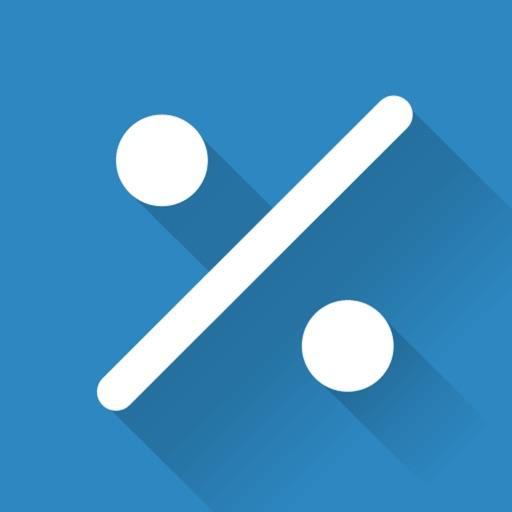 Percentage Calculator - percent, discount, tip iOS App