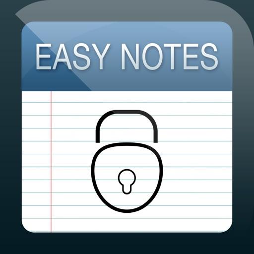 Легко Заметки рундук - пароль защищенный Блокнот