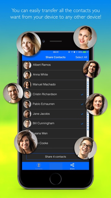 Easy Share Contacts Screenshots
