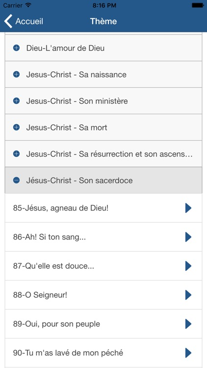 Hymnes et Louanges : SDA hymnal french screenshot-2