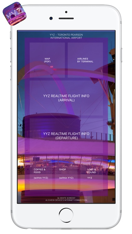 YYZ AIRPORT - Realtime Guide- TORONTO PEARSON INTL